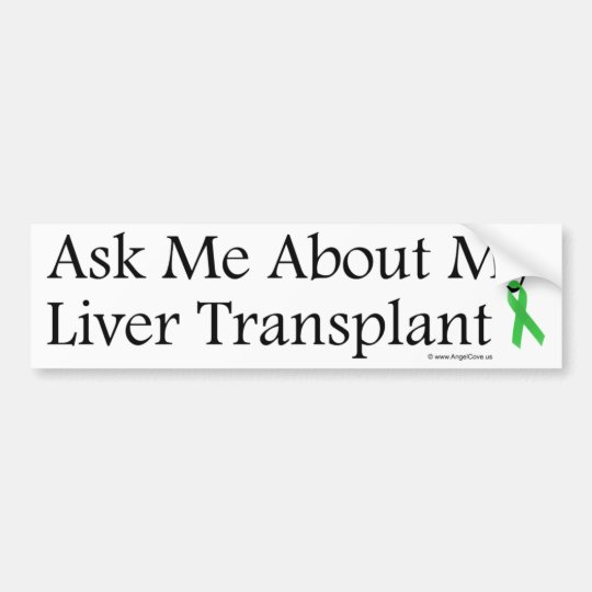 Ask Me Liver Bumper Sticker