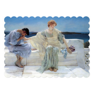 Ask Me No More, Alma Tadema, Wedding Card