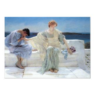 Ask Me No More, Alma Tadema, Wedding Personalized Invite