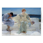 Ask Me No More by Alma Tadema, Vintage Romanticism Greeting Cards