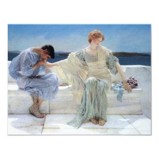Ask Me No More by Alma Tadema, Vintage Romanticism Custom Announcement