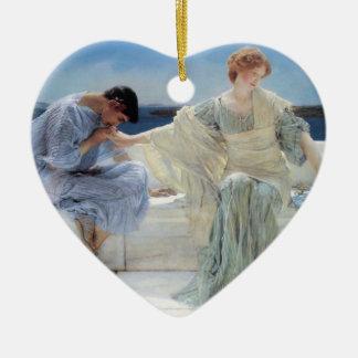 Ask Me No More by Alma Tadema, Vintage Romanticism Christmas Tree Ornaments