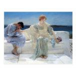 Ask Me No More by Alma Tadema, Vintage Romanticism Postcard