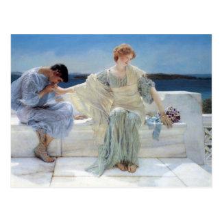 Ask Me No More by Alma Tadema, Vintage Romanticism Post Cards