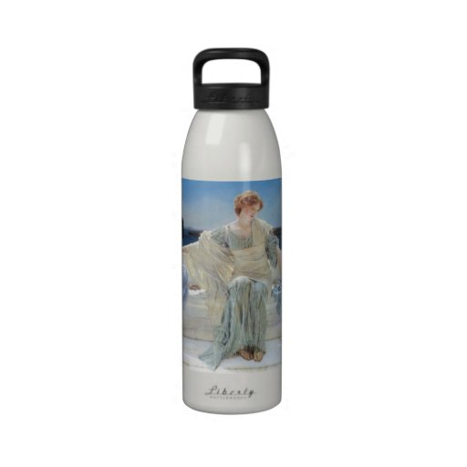 Ask Me No More by Alma Tadema, Vintage Romanticism Drinking Bottles