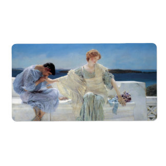 Ask Me No More by Sir Lawrence Alma Tadema Custom Shipping Labels
