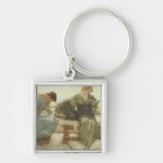 Ask me no more....for at a touch I yield, 1886 (w/ Silver-Colored Square Keychain