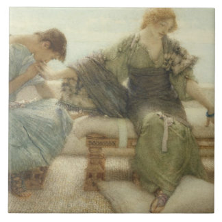 Ask me no more....for at a touch I yield, 1886 (w/ Tile