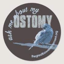 Ask Me Ostomy Little Birdie Sticker