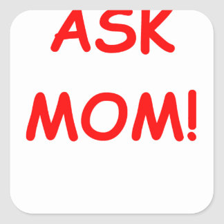 ask mom square stickers