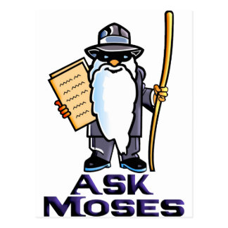 Ask Moses Postcard
