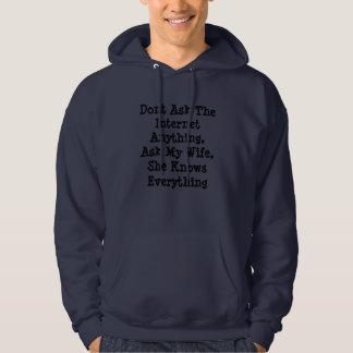 Ask_My_Wife,_Mens_Navy_Funny_Logo_Sweatshirt. Hoodie