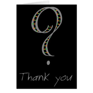 ASK Network black Thank You card