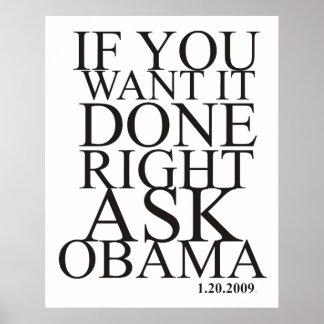Ask Obama Poster