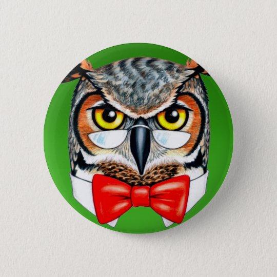 Ask Owl Pinback Button
