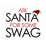 Ask Santa for some SWAG Postcard