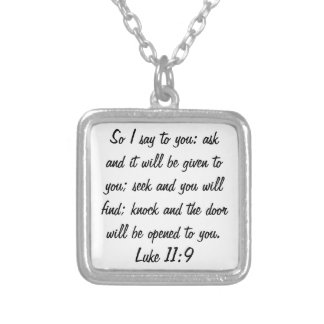 ask seek knock bible verse Luke 11:9 necklace