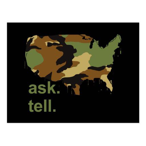 Ask. Tell Postcard