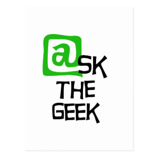 Ask The Geek Postcard