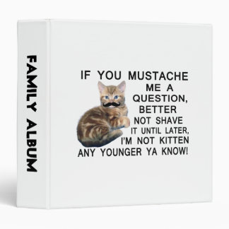 Ask The Kitten With A Mustache A Question Binder