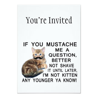 Ask The Kitten With A Mustache A Question Card