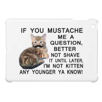 Ask The Kitten With A Mustache A Question Cover For The iPad Mini