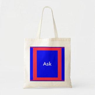 Ask - ! UCreate Ask jGibney Zazzle Tote Bag
