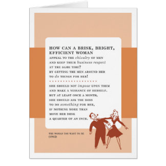 Ask Your Boss for Help Vintage Bad Advice Greeting Card