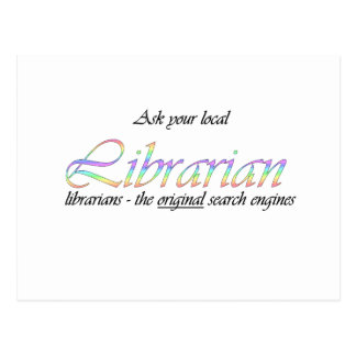 Ask your local librarian postcard
