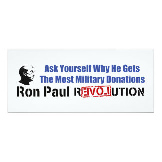 Ask Yourself Why He Gets Most Military Donations Card
