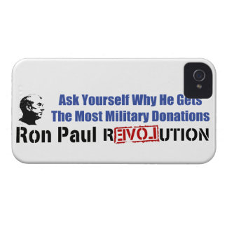 Ask Yourself Why He Gets Most Military Donations iPhone 4 Case-Mate Case