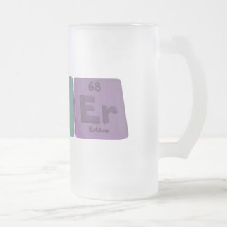 Asker-As-K-Er-Arsenic-Potassium-Erbium Frosted Glass Beer Mug