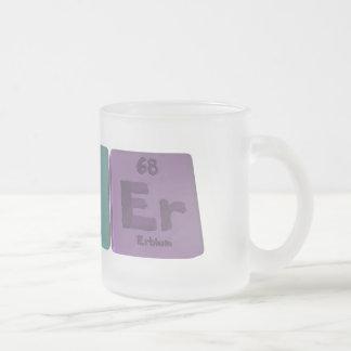 Asker-As-K-Er-Arsenic-Potassium-Erbium 10 Oz Frosted Glass Coffee Mug
