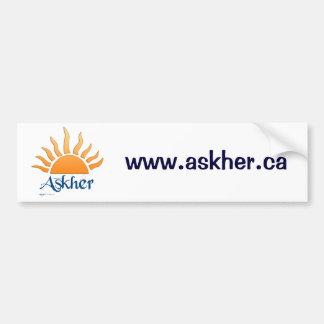 askher bumber sticker2 car bumper sticker