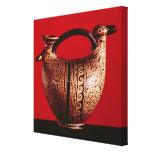 Askos de Etruscan en la forma de un pato Lona Envuelta Para Galerias