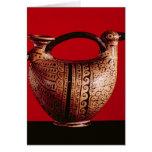 Askos de Etruscan en la forma de un pato Tarjeta De Felicitación