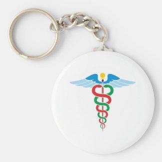 Äskulap staff Asclepius staff Basic Round Button Keychain