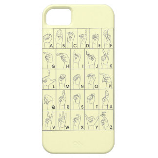 ASL A to Z Alphabet American Sign Language iPhone SE/5/5s Case