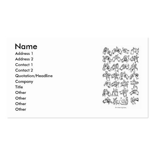 ASL Alphabet Business Card