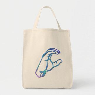 ASL Alphabet Letter C Tote Bag