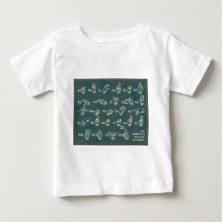 ASL American Manual Alphabet Baby T-Shirt