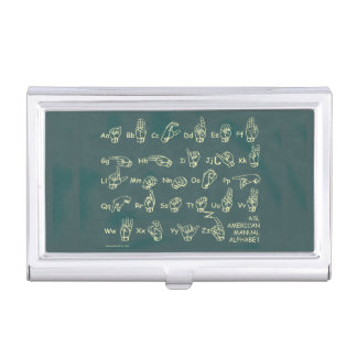 ASL American Manual Alphabet Case For Business Cards