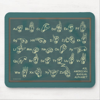 ASL American Manual Alphabet Mouse Pad