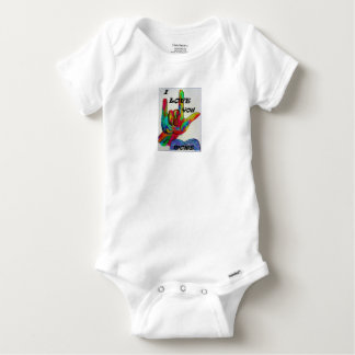 ASL American Sign Language I LOVE YOU MORE Baby Onesie