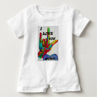ASL American Sign Language I LOVE YOU MORE Baby Romper