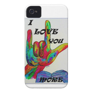 ASL American Sign Language I LOVE YOU MORE Case-Mate iPhone 4 Case