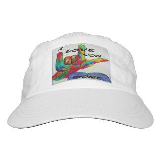 ASL American Sign Language I LOVE YOU MORE Hat