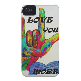 ASL American Sign Language I LOVE YOU MORE iPhone 4 Case-Mate Case