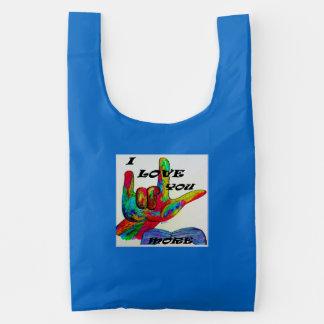 ASL American Sign Language I LOVE YOU MORE Reusable Bag