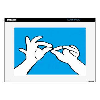 """ASL American Sign Language INTERPRET 15"""" Laptop Skins"""